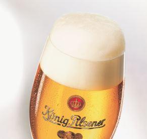 Blume auf Bier